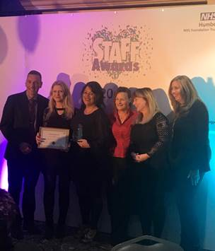 Perinatal Mental Health Team are the big winners of 2017 Staff Awards