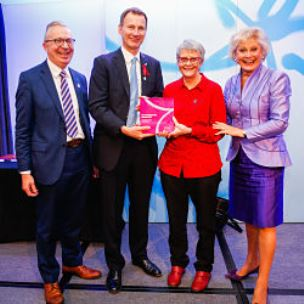 Mine's a double! Trust Patient Research Ambassador Wendy Mitchell bags brace of top awards