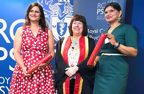 Mark of distinction: Two Trust psychiatrists speak of 'honour and pride' after both receive their profession's highest honour