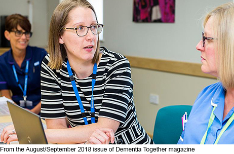 Caring together: Hospice and mental health staff exchanging expertise