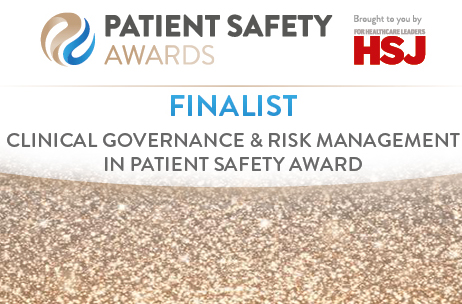 Trust nominated for national patient safety award